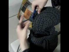 Penye ipten sırt çantası yapımı - YouTube
