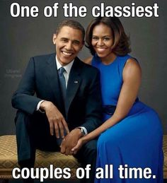 President & First Lady of the United States of America, Barack Hussein & Michelle Obama.