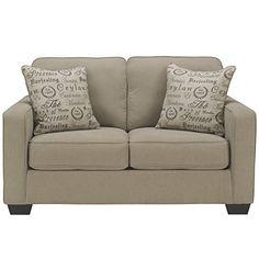 Flash Furniture Signature Design by Ashley Alenya Loveseat in Quartz Microfiber