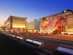 Quartier du Flon, Lausanne Lausanne, Rotterdam, Lake Geneva, Switzerland, Times Square, Images, Around The Worlds, Architecture, Building