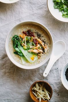 Ginger Chicken Brown Rice Congee -