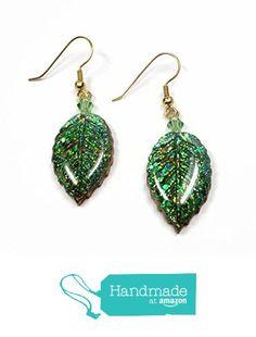 Emerald Green Leaf Dangle Earrings from SK  Artisan Jewelry & Gifts http://www.amazon.com/dp/B016LBU600/ref=hnd_sw_r_pi_dp_eeWjwb1WQGH34 #handmadeatamazon