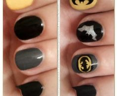 Batman Nails for the bachelorette party