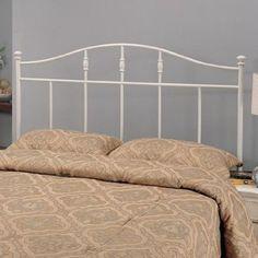 Amazon.com: Metal Full Headboard in Cottage White: Furniture & Decor