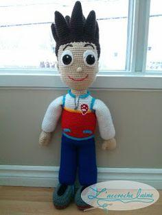 L& laine: Ryder (Pat Patrouille) - Crochet Amigurumi, Amigurumi Patterns, Amigurumi Doll, Doll Patterns, Crochet Doll Clothes, Crochet Dolls, Crochet Baby, Free Crochet, Toys