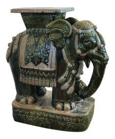 Chinese Ceramic Elephant Table Elephant Table Ceramic