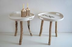 Beistelltische mit Beinen aus Treibholz / little table made of driftwood by manunatura via DaWanda.com