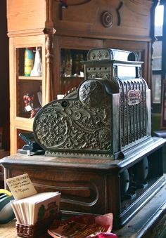 vintage cash register at the Hotel California in Mexico