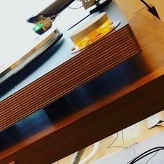 Cool closeup of the amazing DS Audio cartridge on The Wand turntable and arm at the 2020 Tuscany Show