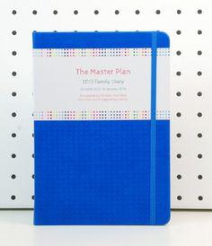 $34.95 The Masterplan 2013 Family Diary #Blue http://notemaker.com.au/collections/master-plan-family-diary-and-calendar
