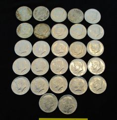 22 (1964) Kennedy silver half dollars