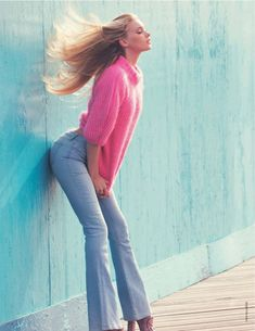 visual optimism; fashion editorials, shows, campaigns & more!: candy color: elsa hosk by david bellemere for marie claire italia september 2014