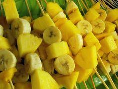 Fruit ca-bobs (jungle baby shower theme)