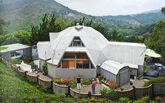 How cool is this geodesic dome home?