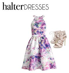 """Halter Dress"" by ballerinagirl721 ❤ liked on Polyvore featuring Parker, Carvela and halterdresses"