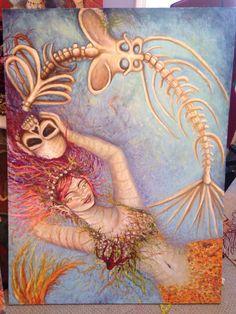 Morte tarot card huge painting by Tara Nefertara Ozella by ChurchofVanity on Etsy https://www.etsy.com/listing/240810152/morte-tarot-card-huge-painting-by-tara