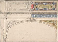 Design for Decorated Archway, Monaco Pavillion Jules-Edmond-Charles Lachaise
