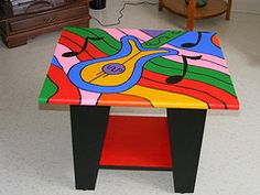 POP ART MUSIC TABLE by thefunctionalartist