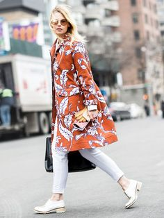 What to Wear With a Bold Spring Coat via @WhoWhatWearUK