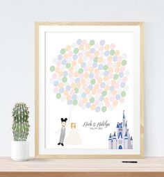 Wedding Sign for Guest Signatures with Disney by MDBWeddings