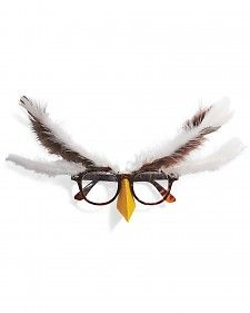 Make a wise disguise in no time. Just add brown and ivory feathers and our beak template to brown eyeglasses.