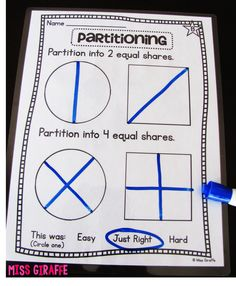 Partitioning shapes to make halves and fourths and other great fractions activities for young learners