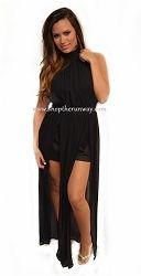 Rubber Ducky Black Chiffon Romper Dress similar worn by Jennifer Lopez