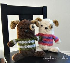 Crochet Dog Stuffies for Valentine's Day