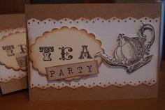 Tea party invitations.