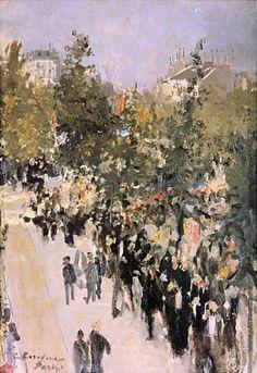 Коровин К. А. Париж 14-го июля Post Impressionism, Russian Art, Fine Art, Art Nature, Landscape, Paintings, France, Artists, Paris