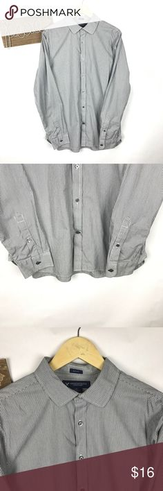 American eagle men's shirt Nice striped men's button down shirt in great condition size large slim fit American Eagle Outfitters Shirts Casual Button Down Shirts