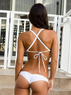Clearance Scrunch Brazilian bikini bottom for $37