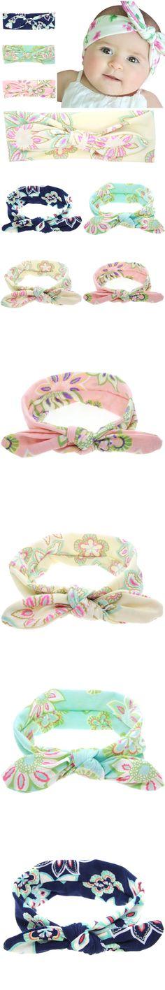 1PC Best Deal Lovely Baby Headband Fashion Bunny Ear Girl Headwear Bow Elastic Knot Headbands Hair Accessories kt-042