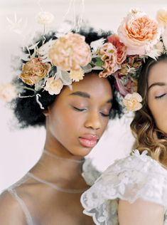Neutral color palette weddings for brides who love florals, organic undertones with whimsical pops of color!   #neutralweddings #weddingfloralheadpieces  #bridalinspiration