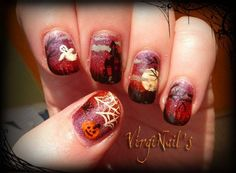 Halloween art nails