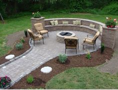 There are a lot of people looking for backyard fire pit landscaping ideas. Having massive backyard at home is a blessing for sure as you can use it for multiple purposes. If you like gardening, the backyard can be turned… Continue Reading → Fire Pit Seating, Fire Pit Area, Diy Fire Pit, Fire Pit Backyard, Patio Fire Pits, Fire Pit With Pavers, Paver Fire Pit, Desert Backyard, Back Yard Fire Pit