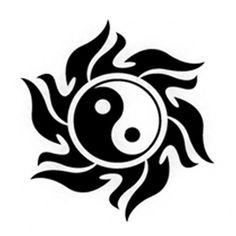 yin yang stencils | Yin Yang Sun Spiral