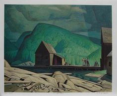 CASSON, A.J. - Canadian artist (1898-1992): -- 'Sun After Rain'.