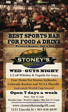 Denver AdIndex - Online Advertising Directory - Best of Denver - Restaurants - Stoney's Bar and Grill