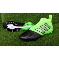 Adidas ACE - Acquistare 2017 Adidas ACE 17 PureControl Nero Verde Scarpe Da Calcio