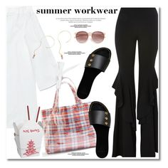 """summer workwear"" by paculi ❤ liked on Polyvore featuring Topshop"