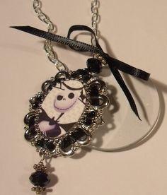 Magnifying Glass Tim Burton Jack The Pumpkin King Charm Necklace | Jenstardesigns - Jewelry on ArtFire