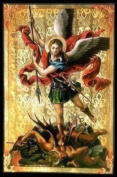St Michael the Archangel, associated with Ogun, Orisha of war, in Cuba. Chaplet Of St Michael, St. Michael, Saint Michael, Angel Hierarchy, Seven Archangels, Warriors Pictures, Archangel Michael, Guardian Angels, Angels And Demons