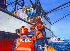 Chuck Van Horn   Bainbridge Island Final  Selected for the U.S. Coast Guard's permanent collection