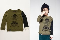 Kid Creature Color Block Crew Neck Sweater