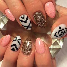 Black | Aztec Mega Pack Nail Decal | Aztec Nails | Aztec Nail Art | Tribal Nails | Summer Nails | Nails | Spring Nails | Nail Decals | Nail Art  Shop Nail Decals weloveglitterdesign.com