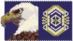 Tiny Bald Eagle 22715 PDF Peyote Bead Pattern