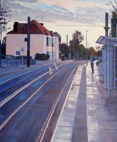 'A New Day' painting of Lebanon Road Tram Stop