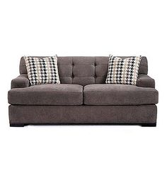 HM Richards Caprice Grey Loveseat | Boston Store