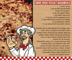 Deep dish pizza casserole food yummy cheese recipes meat italian